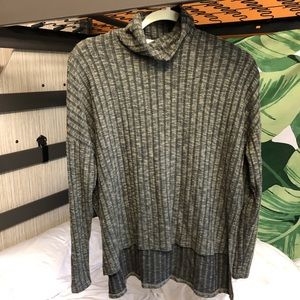 American Eagle soft hi-low turtleneck sweater